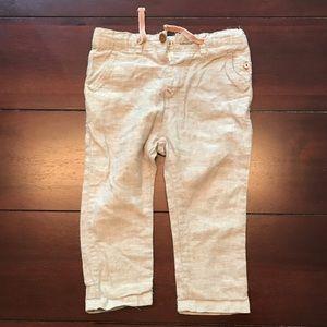 Zara boy linen pants 18/24 months